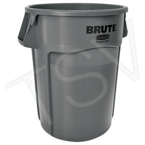 Round Brute ® Containers Capacity: 55 US gal. Material: Polyethylene