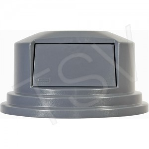 """Round Brute ® Tops Material: Polyethylene Type: Dome Lid Fits Container Size: 27-1/4"""" Dia."""