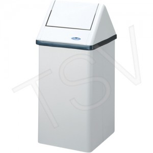 """Waste Container Steel 16gal. White 34.75 X 14.75X13.5"""""""