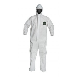 DuPont Proshield 50 Coverall, Hooded, Elastic Sleeves and Ankles, 25 Per Case
