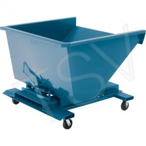 """Self-Dumping Hpper Steel 2 cu. yd. 3 gauge, Blue 43.6x62.6x67"""" 1095lbs."""