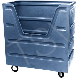 "Bulk Laundry Trucks Overall Width: 29"" Overall Height: 55"" Overall Depth: 48"" Cart Material: Plastic"
