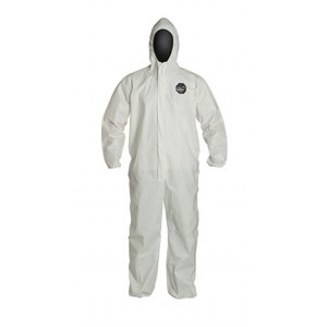 DuPont Proshield 60 Coverall, Hooded, Elastic Sleeves and Ankles, 25 Per Case