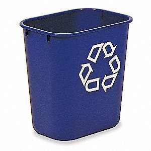 Recycling Container Rubbermaid Deskside Blue 13QT 11 3/8Lx8 1/4Wx12 1/8H