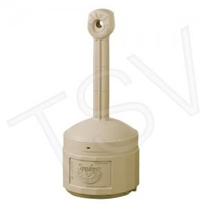 """Smokers Tower, Plastic, 4 US Gal., 38.5"""" x 16.5"""", Beige, 15 L Steel Liner"""