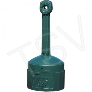 """Cease-fire, 4 Gal, Plastic, 38-1/2"""" Hx16-1/2""""Dia. , Forest Green"""