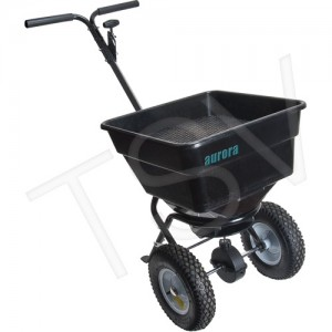 Broadcast Spreader Load Capacity: 100 lbs. Coverage: 16 000 sq. ft.