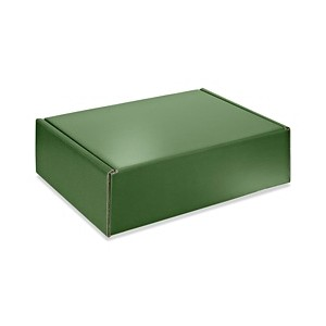 "Mailer Box, Green, 13 X 10 X 4"" 200lbs tested"