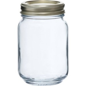 Glass Mason Jars 500ml  w/ Lids  12/CS