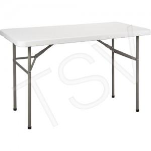 """Polyethylene Folding Tables Length: 48"""" Width: 24"""" Height: 29"""""""