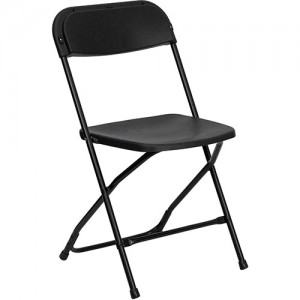 Plastic Folding Chair - Black
