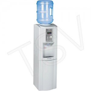 "Free-Standing Water Dispenser Capacity: 5 gal./3 gal. Length: 12-3/5"" Colour: White Width: 12-1/4"""