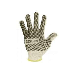 Gloves, Ronco Care, Poly/Cot w/ PVC Dots on Palm, Knitwrist cuff, Nat, Dozen