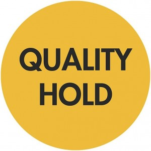 """Quality Hold"" Circle Inventory Labels 2"" 500/Roll Yellow 3""Core"