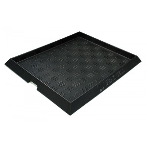 "Chemical Footbath 31"" x 38"" Sole-Solution Foot Bath Sanitation Mat Black"