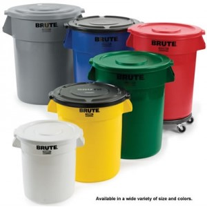 10 Gallon, Brute Container, Pick A Color, Polyethylene