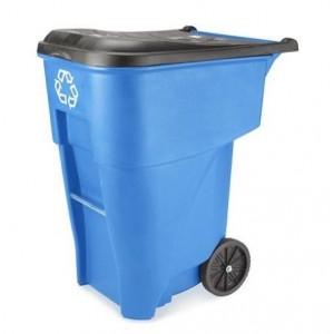 "Recycling Bin With Wheels, Rubbermaid, 95 Gallon 36x27x46"""
