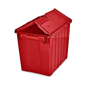 """Rount Trip Tote w/ Attached Lid 19.8x13.8x11.8"""", Red"""
