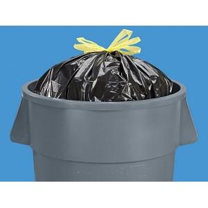 Garbage Bags 44Gal 1.4Mil 37W x 45H w Drawstring 150/CS Black