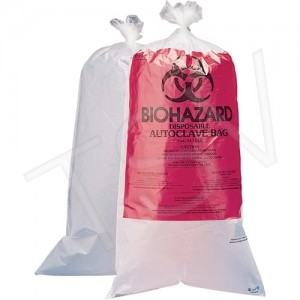 "Biohazard Disposal Bags 24"" x 30"""
