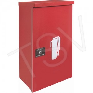 """Extinguisher Cabinet Outdoor 14""""W x10""""D x28""""H /Red"""