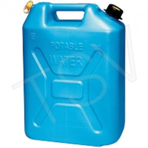 Water Container 5 Gal,Blue, Polyethylene