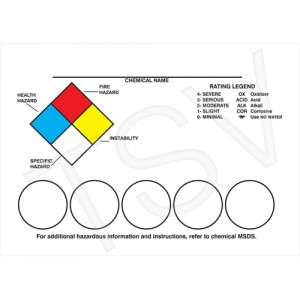 """Right-to-Know Labeling Kits Style: NFPA Diamond 3"""" 1/2 x 5 """""""