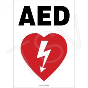 AED Sign Product Type: Sign Category: First Aid Language: English Material: Plastic