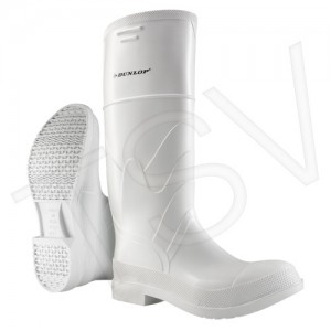 White PVC Steel Toe Boots Shoe Sole Type: Puncture Resistant