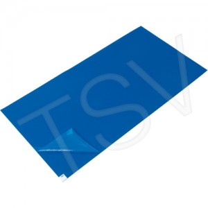 Clean Room Tacky Mat  Width: 2' Length: 3-3/4' Thickness: 40 mics Colour: Blue
