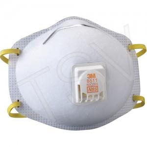 8511 NIOSH N95 Particulate Respirators w/ Valve 10/Bx