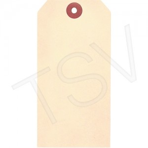 """Manila Blank Tags Material: Cardstock Dimensions: 1-7/8"""" W x 3-3/4"""" H"""