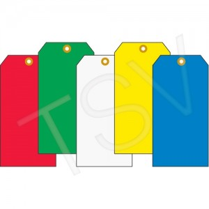 """Coloured Blank Tags Material: Cardstock Dimensions: 2-3/8"""" W x 4-3/4"""" H, 1000/pkg"""