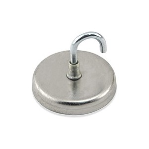 "Hook Swivel Magnetic 1.25"" Dia. Cap 65lbs."