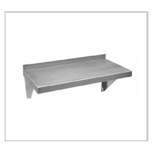 """12"""" x 72"""" Stainless Steel, Wall Mounting Shelves"""