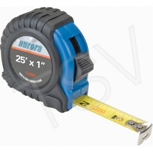 "Measuring Tapes Blade Length: 25'  Blade Width: 1""Graduations: in/ft."
