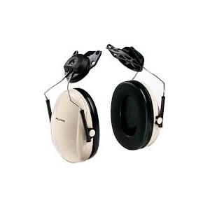 3M PELTOR OPTIME 95 CAP-MOUNT EARMUFFS, H6P3E PER V, BLACK PER TAN