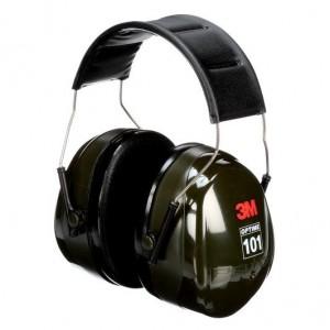 3M PELTOR OPTIME 101 OVER-THE-HEAD EARMUFFS, H7A, BLACK