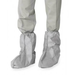 Water Resistant Tyvek Boot Cover, Hi Top with Grey Skid Rest. Sole Sz LG, 100ea/ca