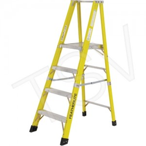 Step Ladder Heavy Duty Fibreglass Platform 12' 300lbs cap. ANSI/CSA A1