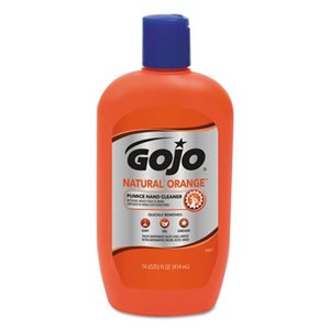 14 FL OZ BOTTLE GOJO NATURAL ORANGE PUMICE HAND CLEANER