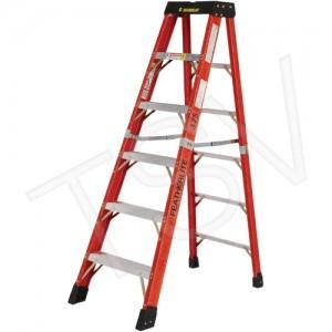 10' Step Ladder Super Heavy Duty Fiberglass Cap. 375lbs.