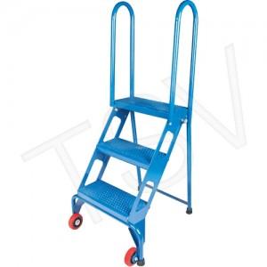 """Portable Folding Ladders Frame Material: Steel No. of Steps: 3 Platform Height: 30"""" Platform Depth: 7"""""""