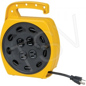 Extension Cord Wind-up 25' 4 Outlet 125V