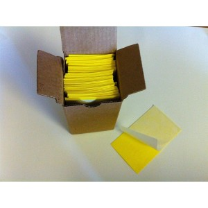"3x5"" Yellow Stiky Strips 1,000 Per Box, 10 Boxes/100ea."