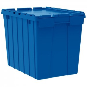 """Attached Lid ContainerOutside Height: 17"""" Outside Length: 21-1/2"""" Outside Width: 15-1/4"""""""