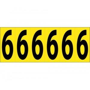 PS Label 2.5 Refl Yellow #1 15Label/Sheet