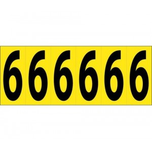 PS Label 2.5 Refl Yellow #3 15 Labels/Sheet