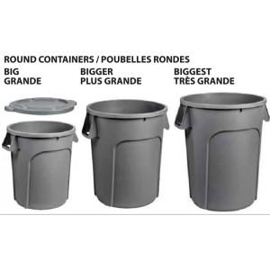 20G Garbage Lid - Grey Pack of 6       Price Per    EA