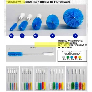 "3"" Twisted in Wire Brush-Blue Pack of 6       Price Per    EA"